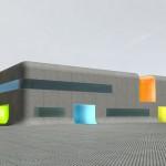 Un monolithe polychrome pour le nouveau centre-bus de la RATP