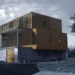 Une maison métal et bois à Mansat-la-Courrière (Creuse)