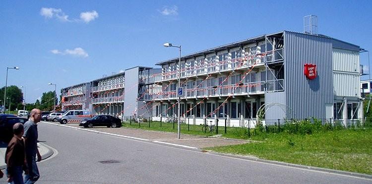 Immeuble pour l'Armée du Salut aux Pays-Bas @Tempohousing