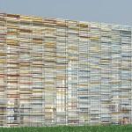 """Médiathèque de Bayeux, """"bâtiment paysage"""" signé Serero Architectes"""