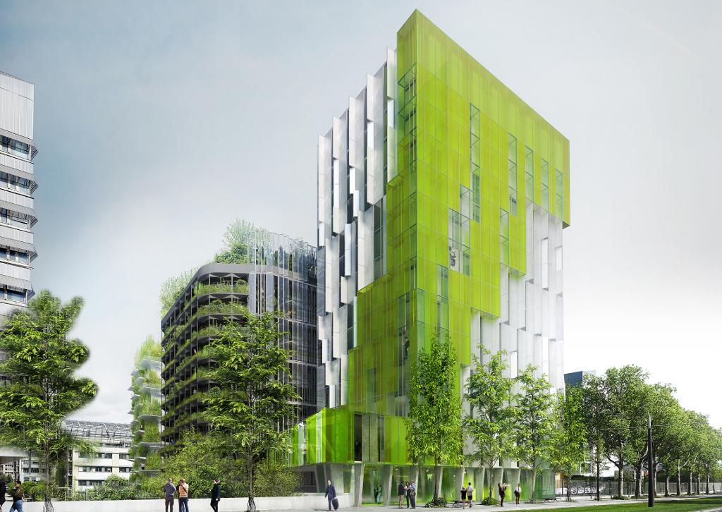 Des algues en fa ade une mar e verte chroniques d architecture - Immeuble ecologique ...