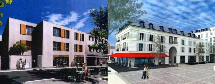 Avant/Après : Projet Place Charles de Gaulle, Fontenay-aux-Roses @Maires Reconstructeurs