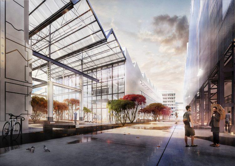 Espace public entre l'école des Beaux-arts et l'hôtel d'entreprises @Spectrum - SAMOA