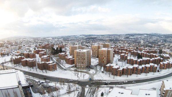 En Norvège, MDH Arkitekter réhabilite l'urbanisme de tours (en bois)