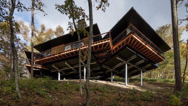 Villa en bois à Karuizawa, avec vue sur les éruptions volcaniques