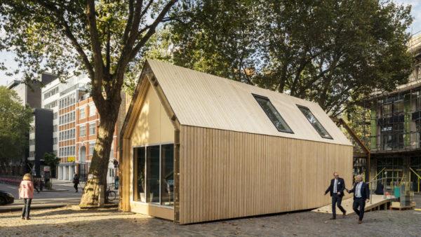 Pour ARUP, à Londres, un pavillon qui tourne rond