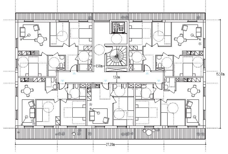 plan appartement village olympique
