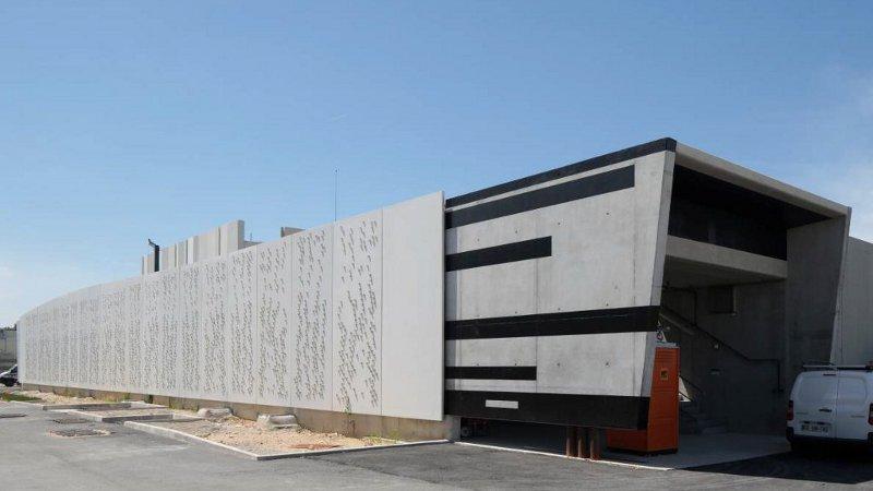 A Achères, les eaux usées matière première d'architecture