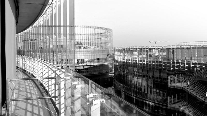 EDF Lab Paris-Saclay, un bâtiment éclairé