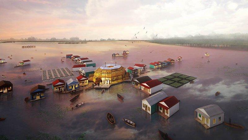 The Lotus Mobile, une éco-clinique flottante