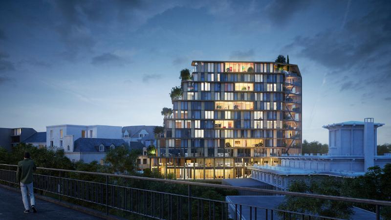 A Rennes un immeuble bois d'Architecture Plurielle