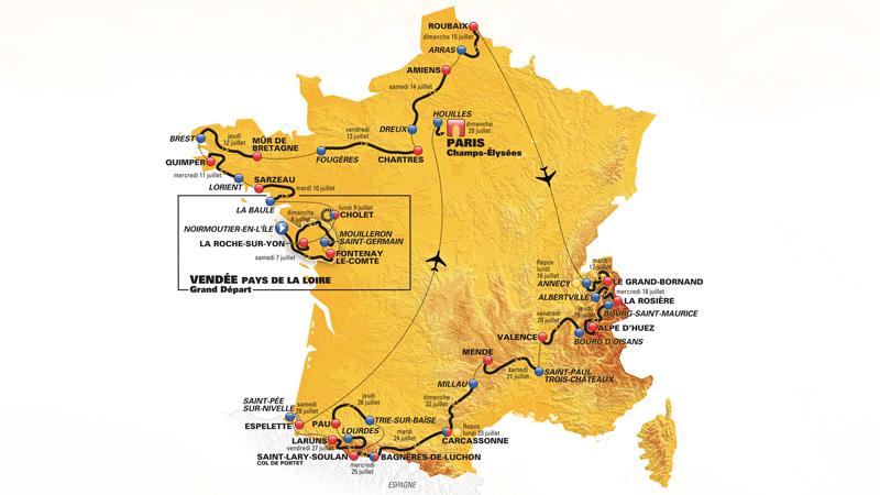 Avis aux suiveurs en mal d'imagination : un Tour de France contemporain