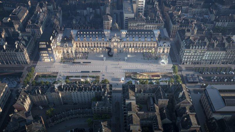 Pour le Palais du Commerce de Rennes, ce sera MVRDV et Bernard Desmoulin