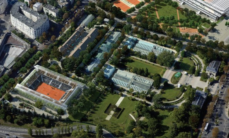 Roland-Garros Vue aérienne