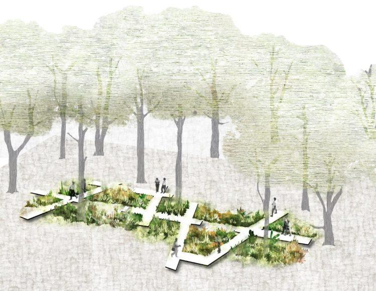 La forêt-jardin, par L'Atelier de l'ours