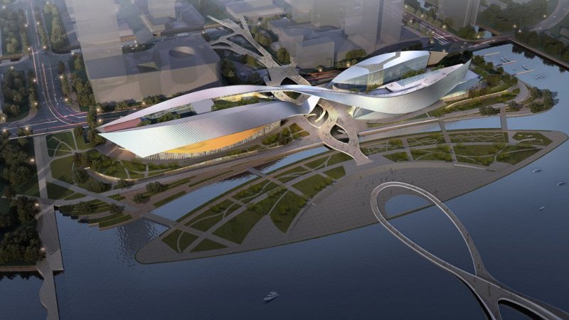 A Suzhou, un centre culturel signé de Portzamparc avec vue sur le lac