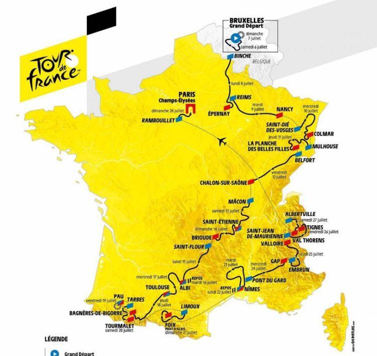 Tour de France : le parcours