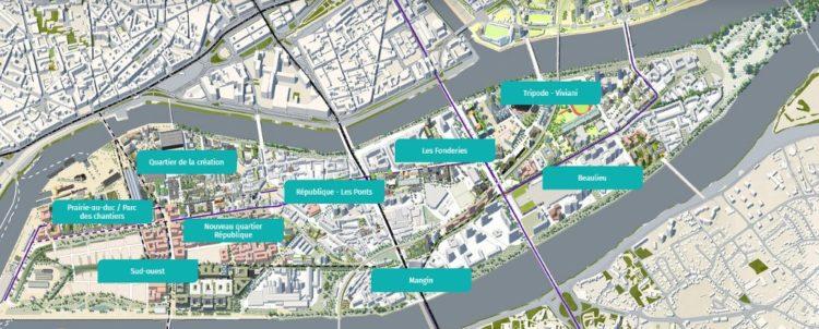 Ile de Nantes Carte 1