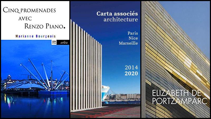 Livres - Promenades avec R. Piano, R. Carta et E. de Portzamparc
