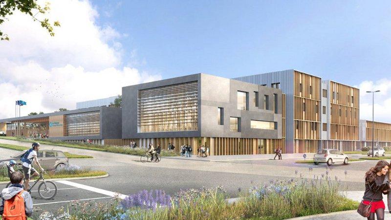 A Clermont-Ferrand, un lycée en paille signé CCR