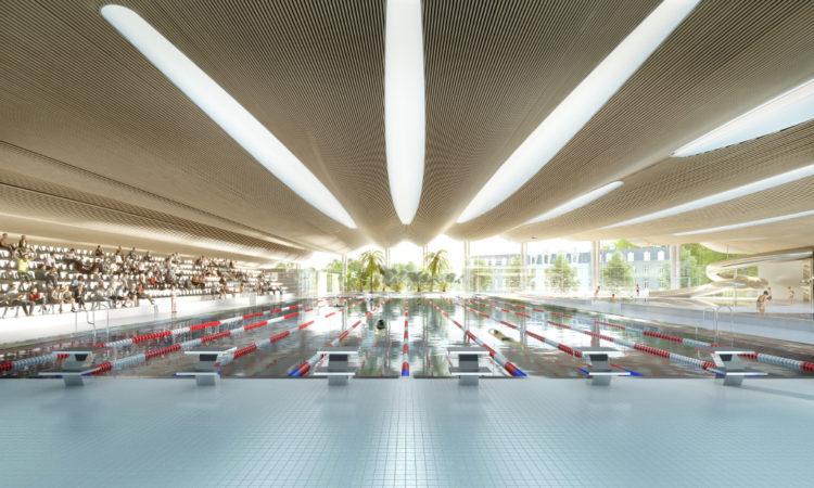 Complexe aqualudique Halle bassin