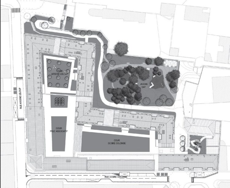 Plan masse Désiré Colombe