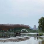 Le musée de Liyang, signé C.R. Lin, en apesanteur sinon perché