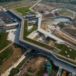 Jeux olympiques au fil de l'eau dans le stade nautique d'Auer Weber