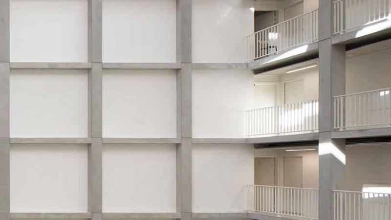 L'atrium de la résidence pour étudiants de l'Atelier Villemard, une intuition ?