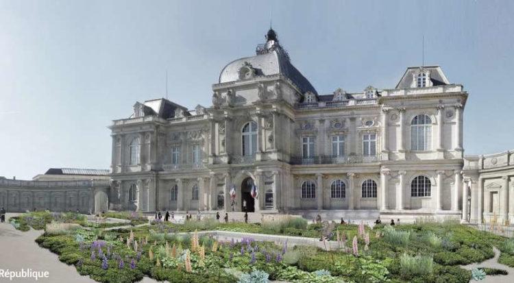 Perspective des façades du Musée de Picardie