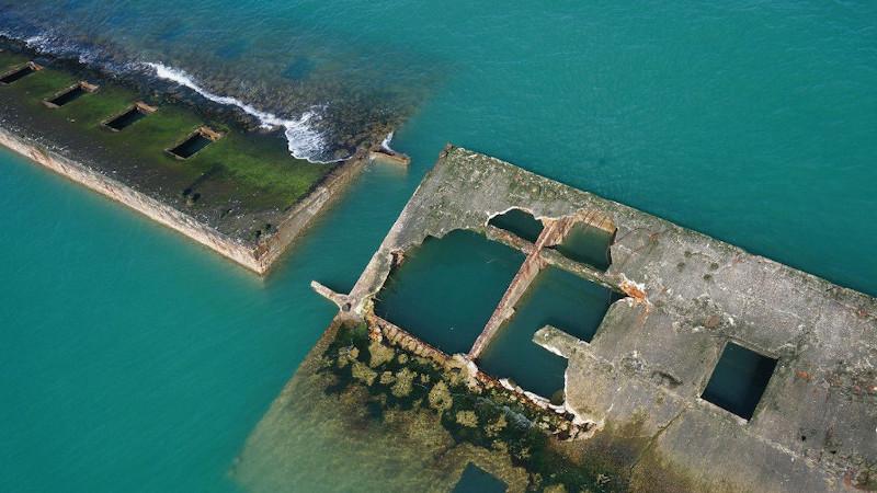 Le musée du débarquement à Arromanches projeté par Projectiles