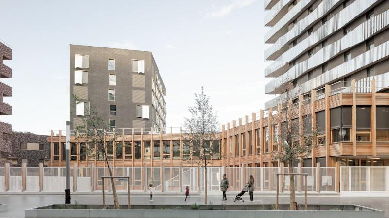 Aux Batignolles, 127 logements, et une école, par Querkraft et Sam