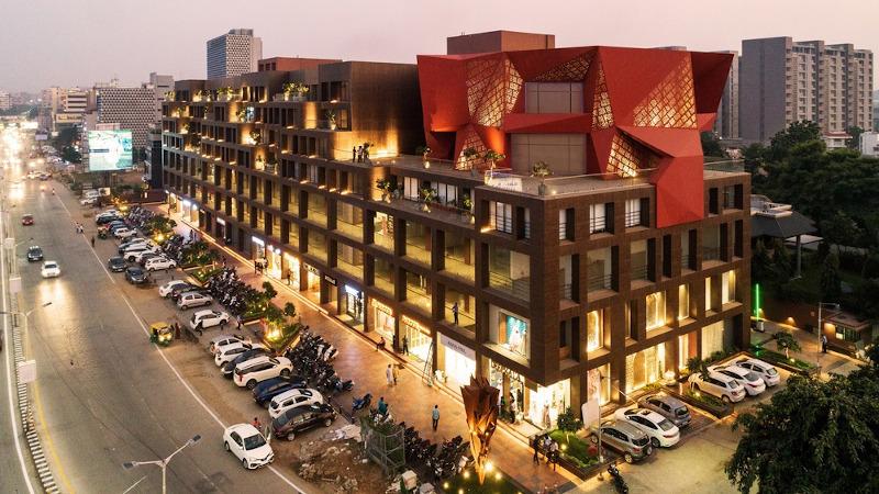 A Ahmedabad, l'immeuble de l'architecte Sanjay Puri, c'est l'Inter-Stellar