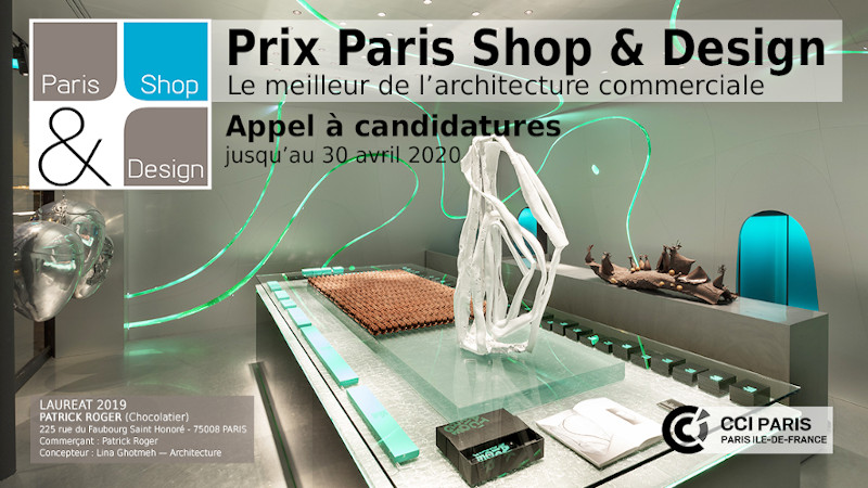 Appel à candidatures - Prix Paris Shop & Design 2020