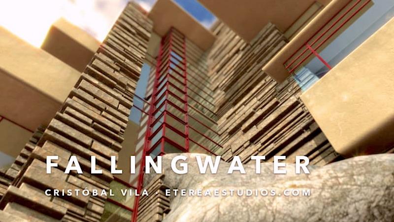 Fallingwater, le chef-d'œuvre de Frank Llyoyd Wright, reconstruit en 4 mn
