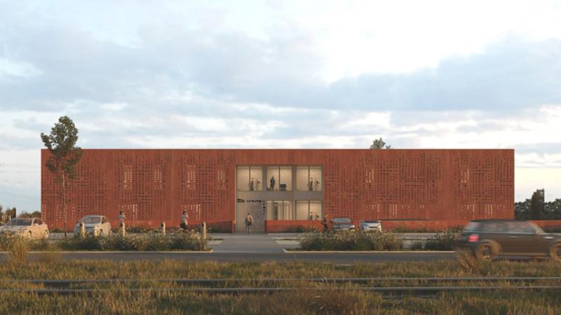 Bâtiment modulaire pour Atelier Aconcept à Mantes-la-Jolie