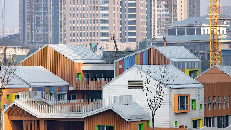 A Chongqing, signée IDO, l'école primaire est un village