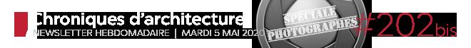 Chroniques d'architecture #202 bis | Newsletter hebdomadaire du mardi 5 mai 2020