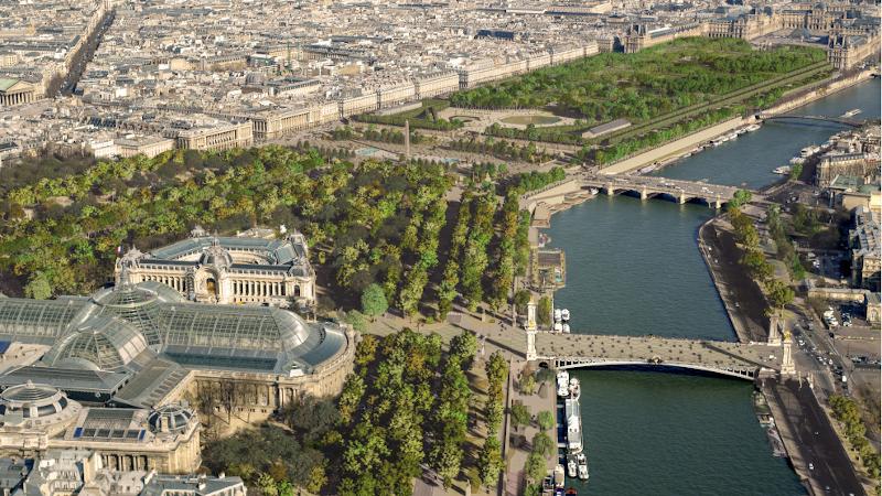 Le parc des Champs-Elysées, renaissance de jardins oubliés, par PCA-Stream