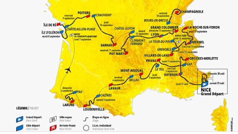 Foin du patrimoine poussiéreux et moussu, un Tour de France 2020 contemporain