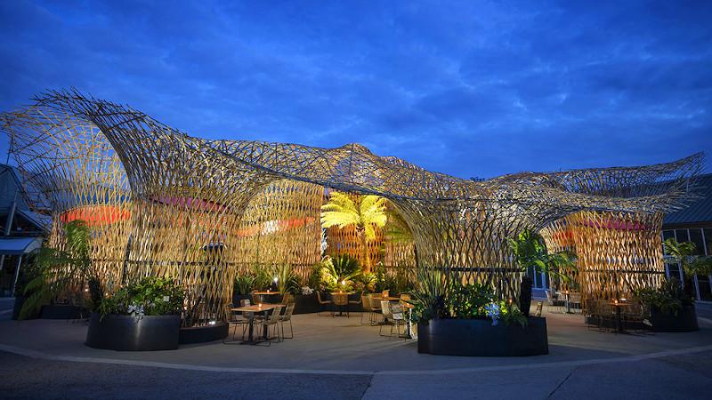 Oasis de Terra Botanica ou l'architecture végétale de l'Atelier Déambulons