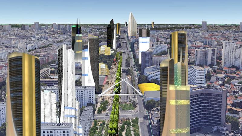 L'avenue du XXIe siècle, de part et d'autre du périphérique parisien