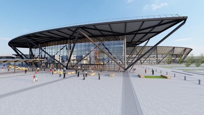 Terminal T1 de Lyon-St-Ex, par Rogers Stirk Harbour + Partners