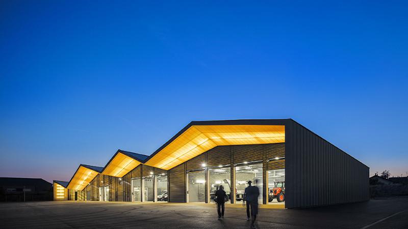 Centre technique de Rixheim, par MFA Architects et Nicola Martinoli Architecte