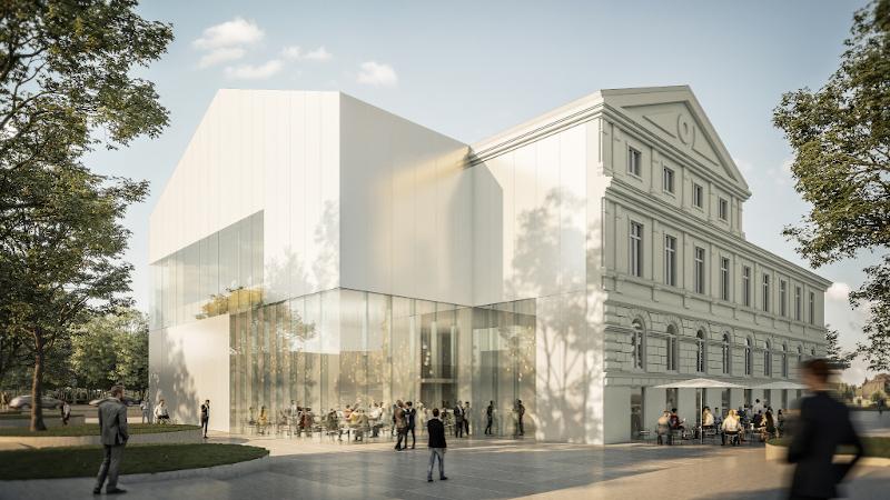 Maison de la culture de Budweis, République Tchèque, par Chaix & Morel