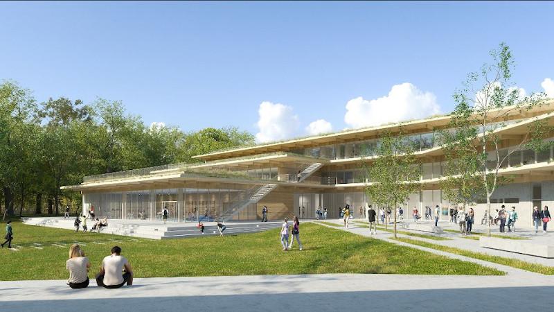 Extension-Restructuration du Lycée Nadar de Draveil, par Ropa & Associés