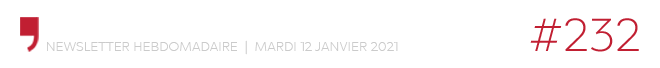 Chroniques d'architecture #232 | Newsletter hebdomadaire du mardi 12 janvier 2021