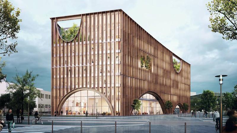 Sur l'Ile de Nantes, une Maison de l'innovation signée Baumschlager Eberle