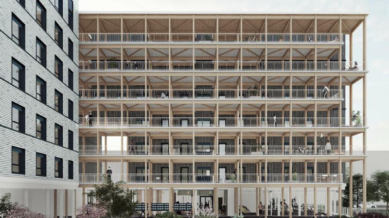 Sur le campus de Saclay, un bâtiment en bois signé WOA