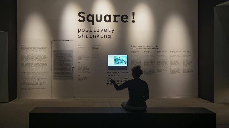 Pavillon de l'Estonie : «Square! Positively shrinking». Positivement en déclin ?